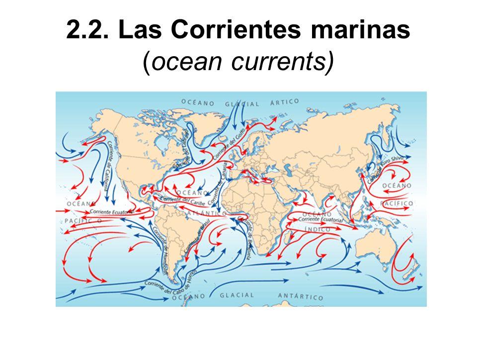 2.2. Las Corrientes marinas (ocean currents)