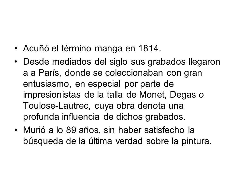 Acuñó el término manga en 1814.