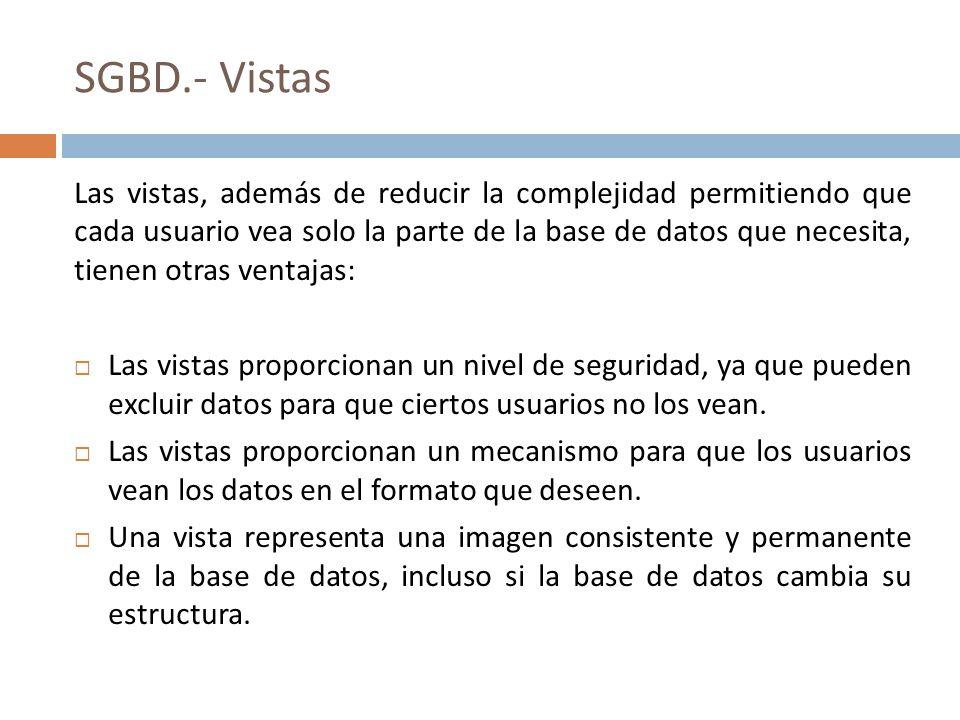 SGBD.- Vistas