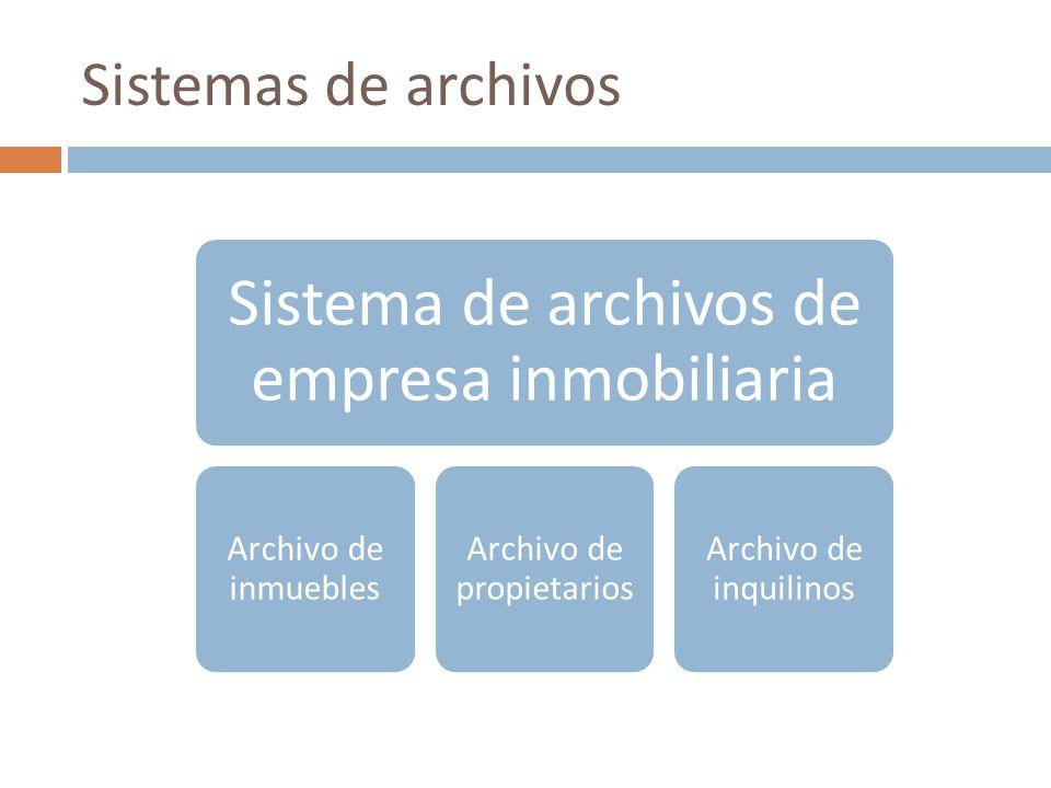 Sistema de archivos de empresa inmobiliaria