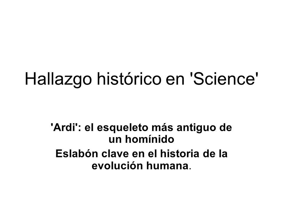 Hallazgo histórico en Science