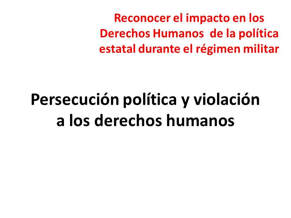 Persecución política y violación a los derechos humanos