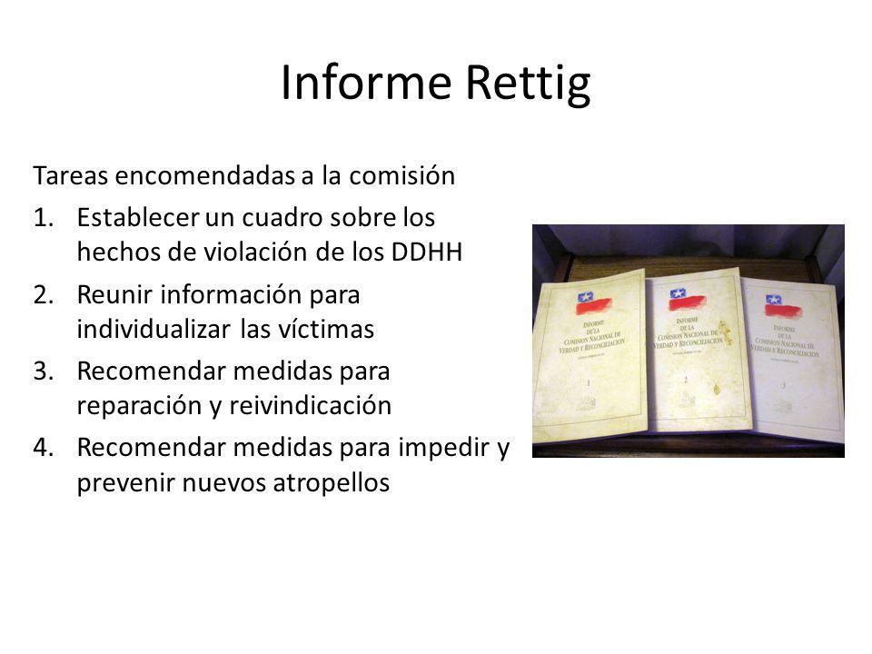 Informe Rettig Tareas encomendadas a la comisión
