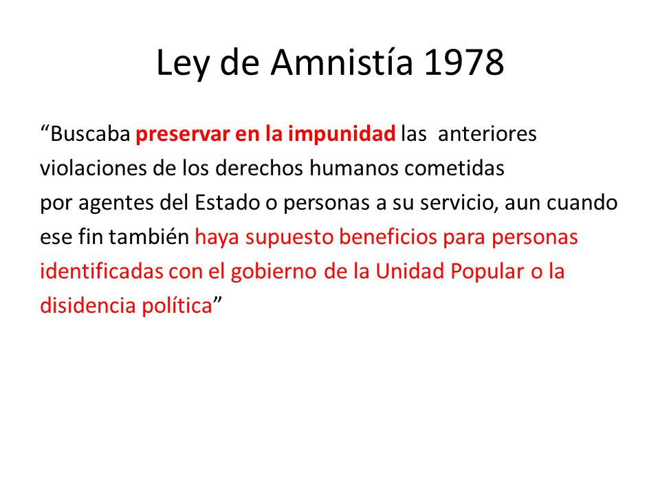 Ley de Amnistía 1978