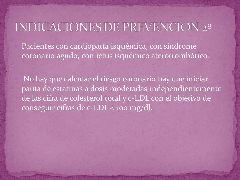 INDICACIONES DE PREVENCION 2º