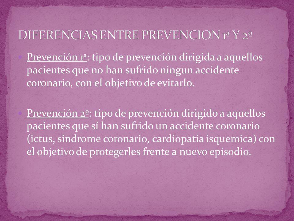 DIFERENCIAS ENTRE PREVENCION 1ª Y 2º