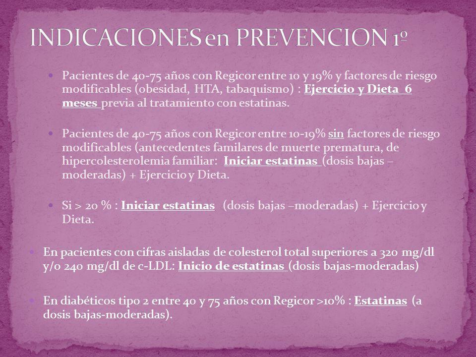 INDICACIONES en PREVENCION 1º