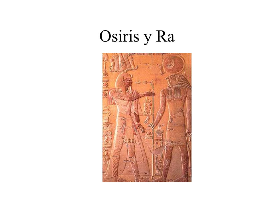 Osiris y Ra