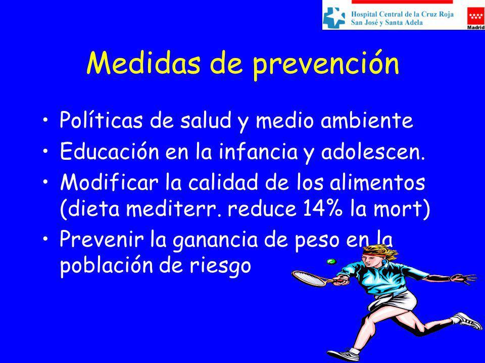 Medidas de prevención Políticas de salud y medio ambiente