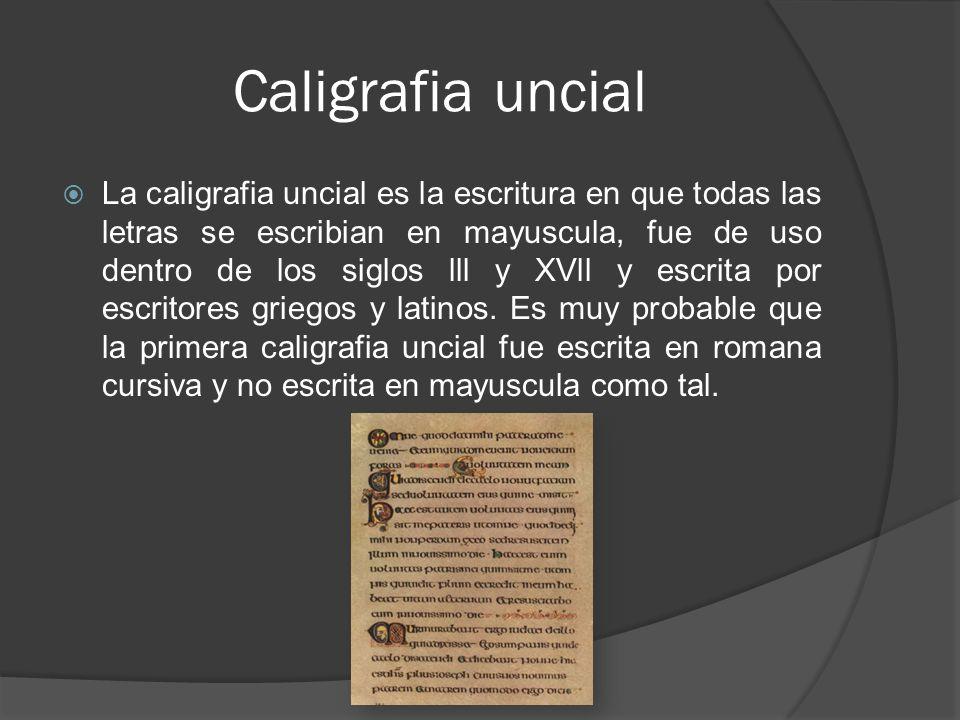 Caligrafia uncial