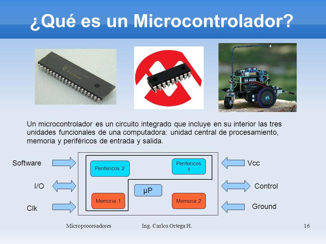 ¿Qué es un Microcontrolador