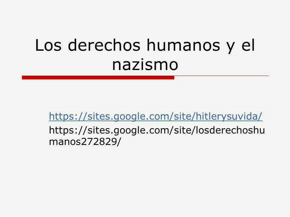 Los derechos humanos y el nazismo
