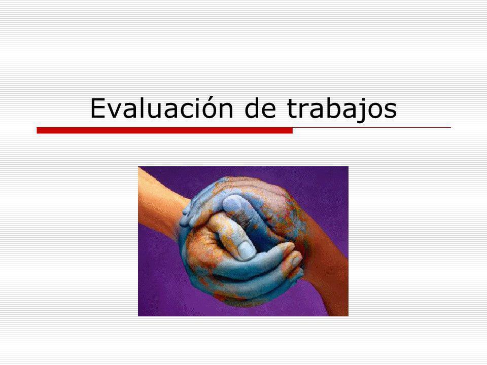Evaluación de trabajos