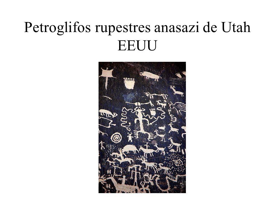 Petroglifos rupestres anasazi de Utah EEUU