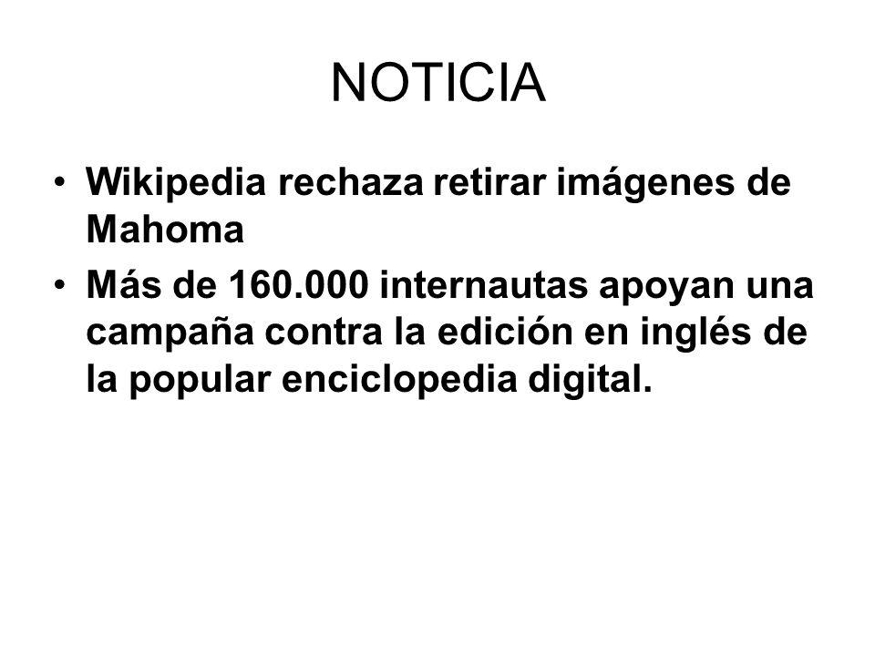 NOTICIA Wikipedia rechaza retirar imágenes de Mahoma