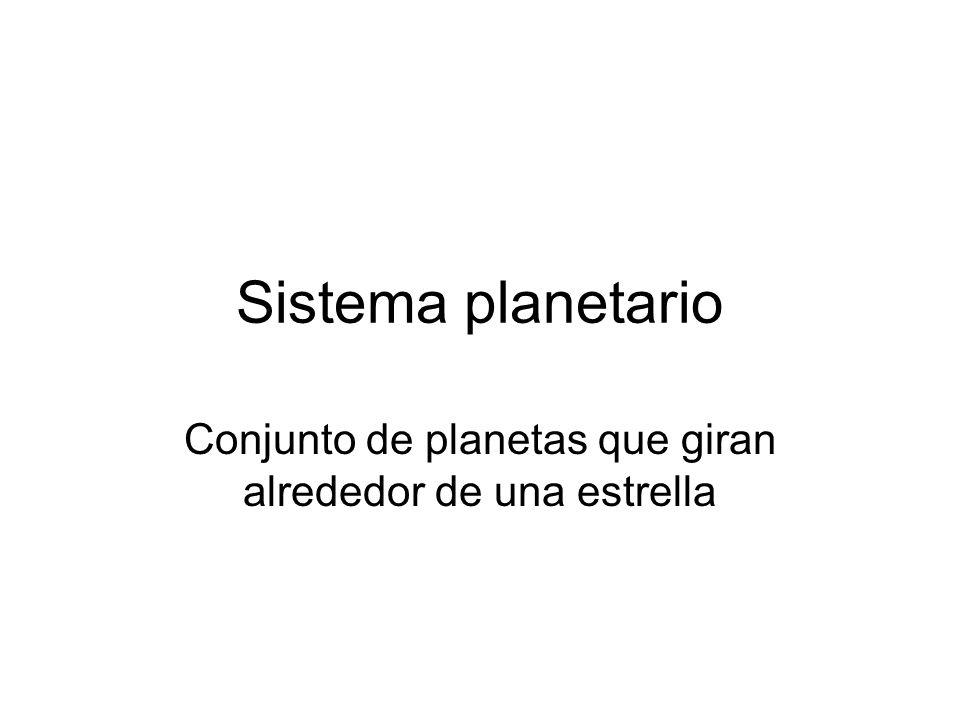 Conjunto de planetas que giran alrededor de una estrella
