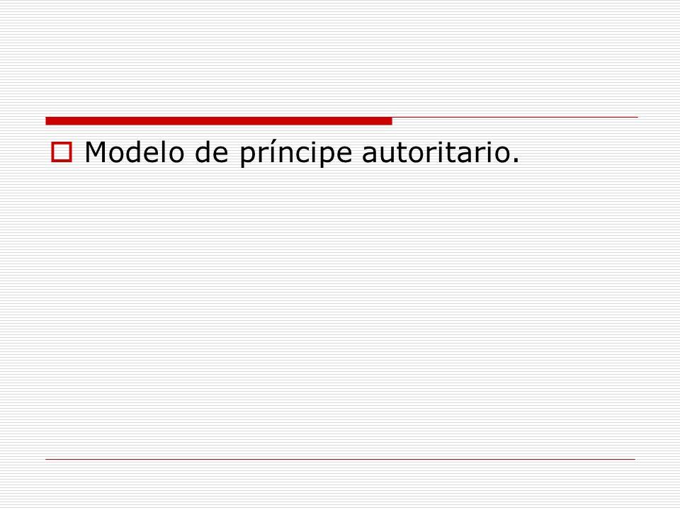 Modelo de príncipe autoritario.