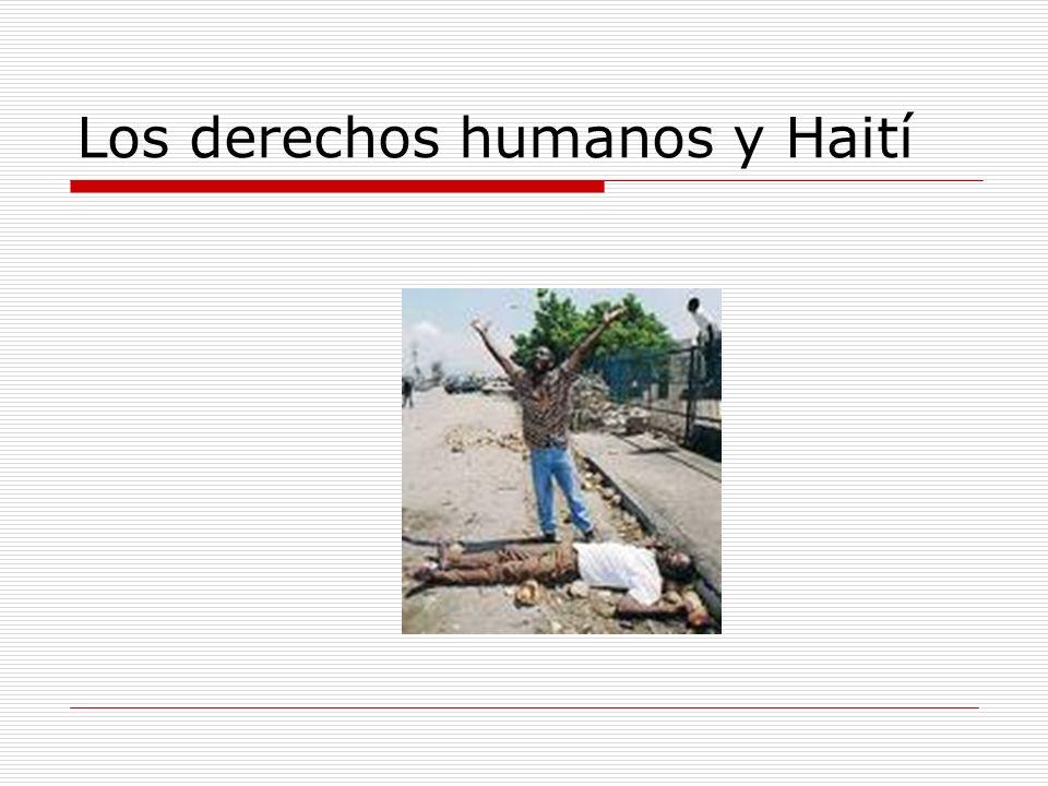 Los derechos humanos y Haití