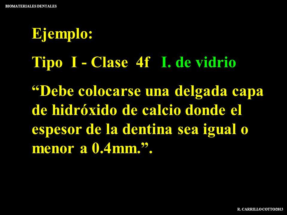 Tipo I - Clase 4f I. de vidrio