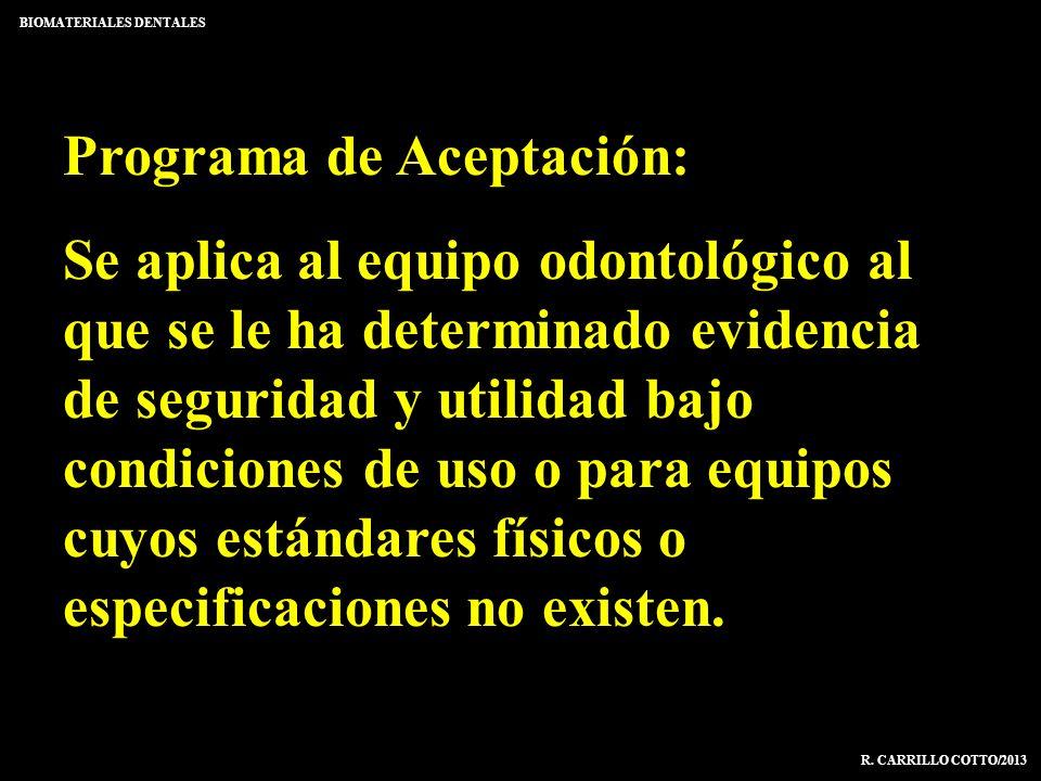 Programa de Aceptación: