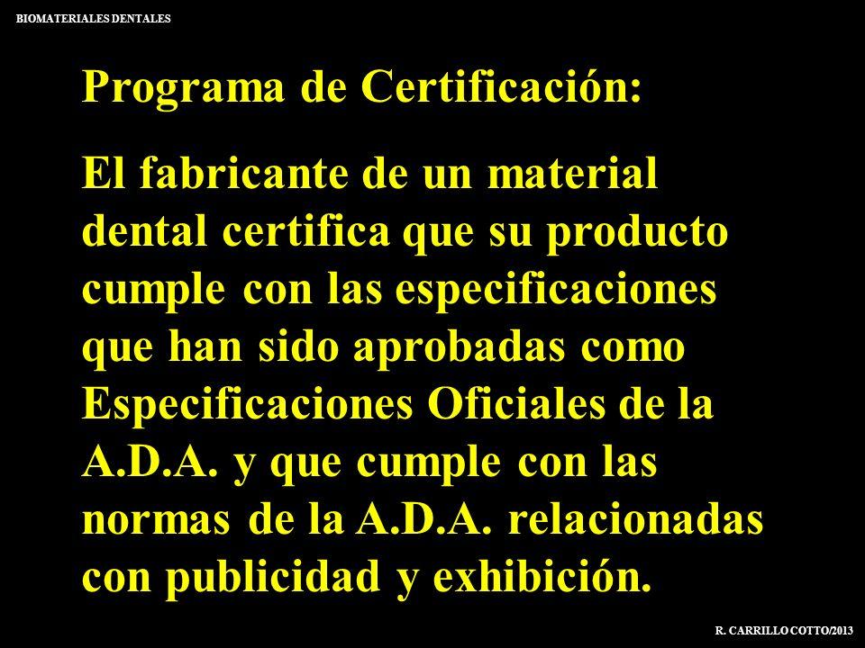 Programa de Certificación: