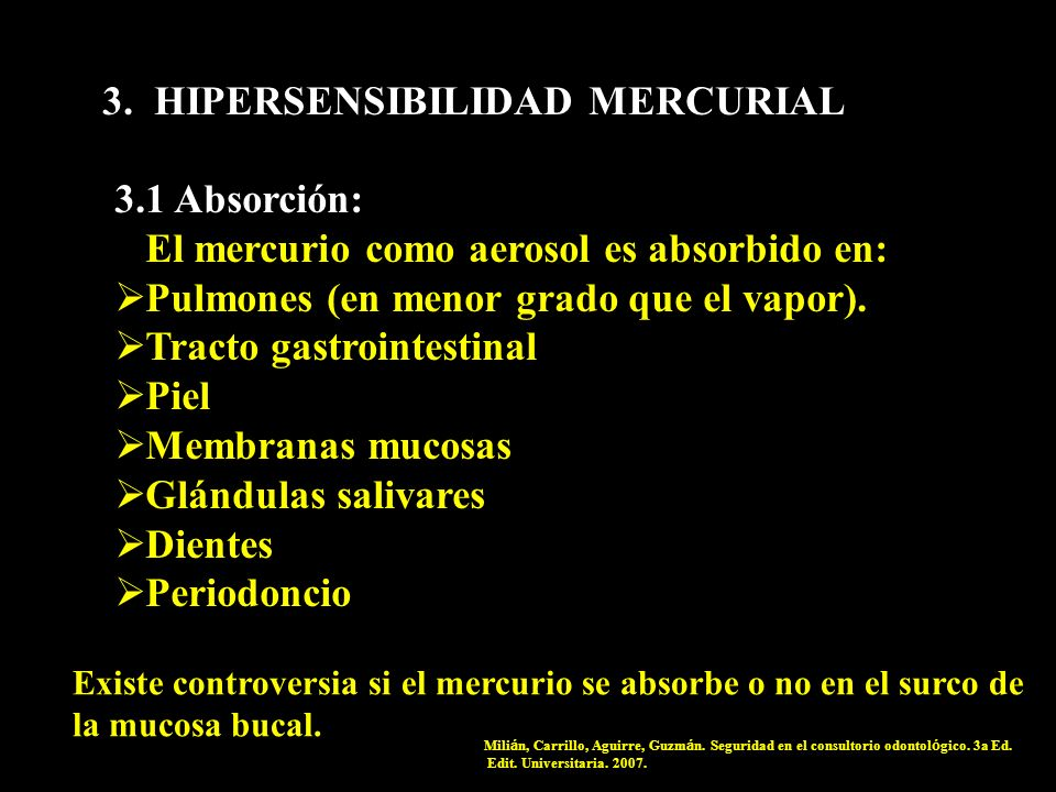 3. HIPERSENSIBILIDAD MERCURIAL