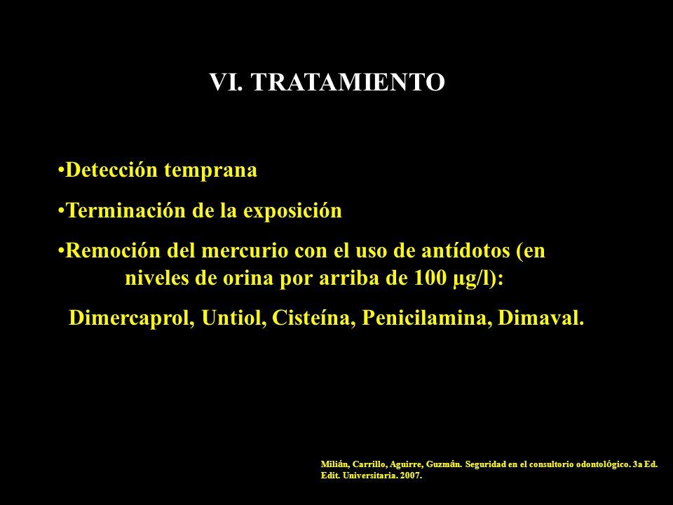VI. TRATAMIENTO Detección temprana Terminación de la exposición