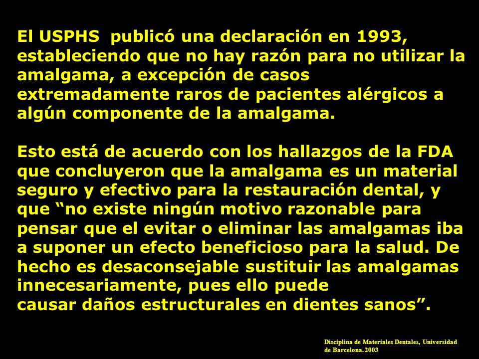 El USPHS publicó una declaración en 1993,
