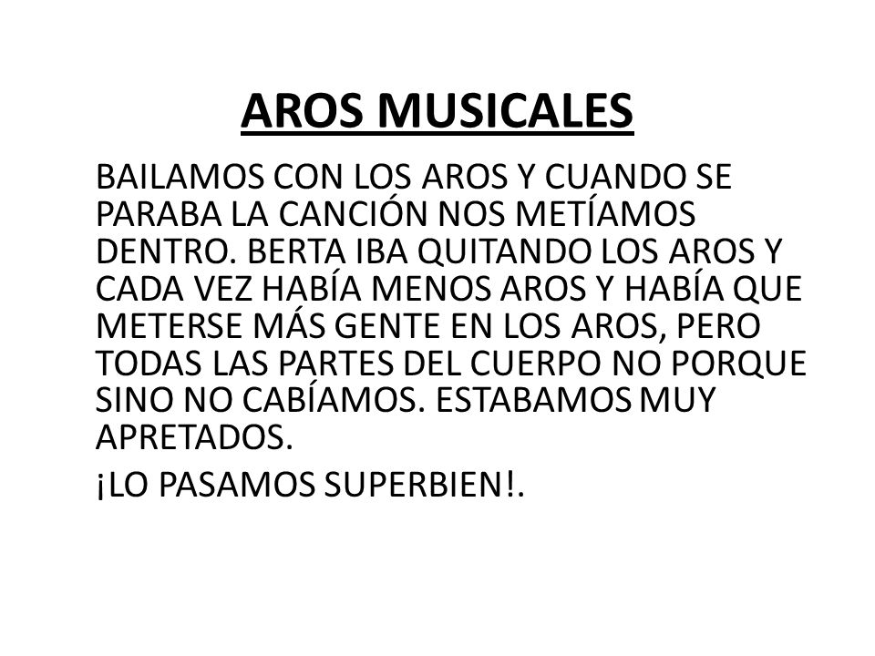 AROS MUSICALES