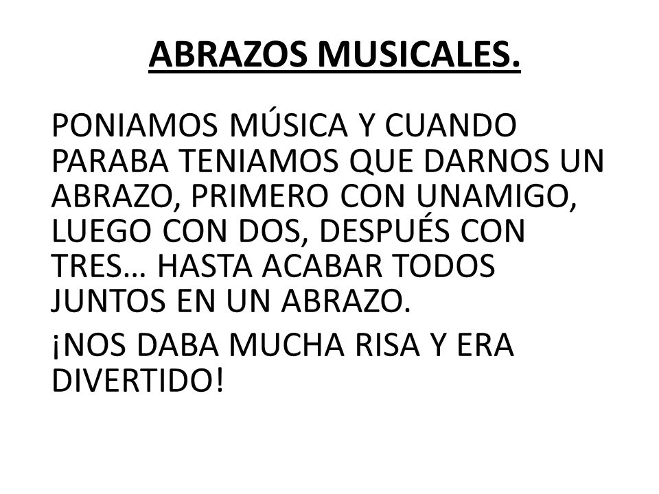 ABRAZOS MUSICALES.