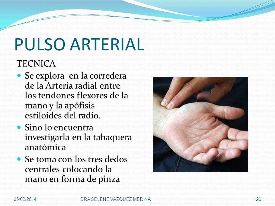 PULSO ARTERIAL TECNICA