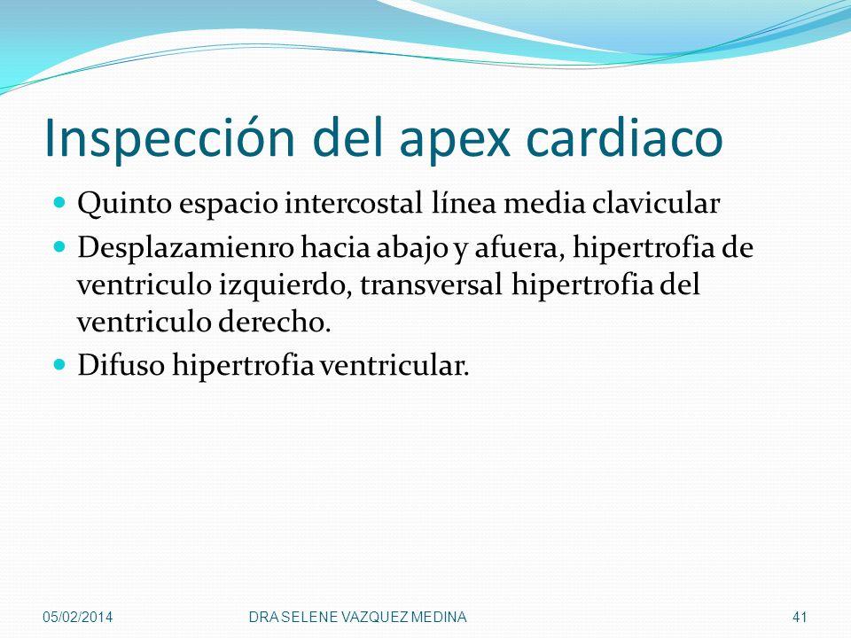 Inspección del apex cardiaco