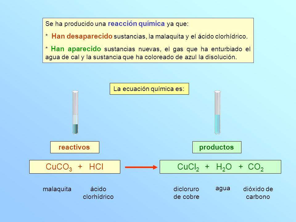 La ecuación química es: