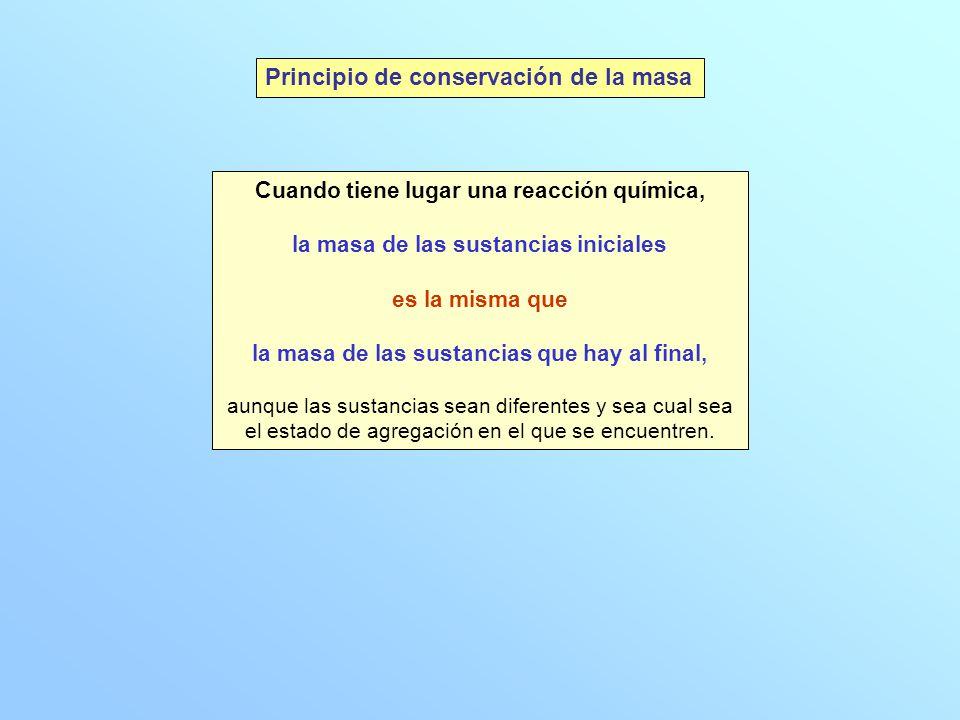 Principio de conservación de la masa