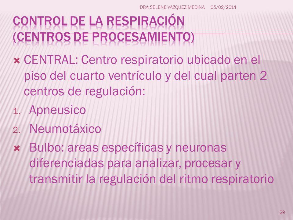 Control de la respiración (centros de procesamiento)