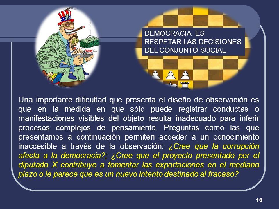 DEMOCRACIA ES RESPETAR LAS DECISIONES DEL CONJUNTO SOCIAL