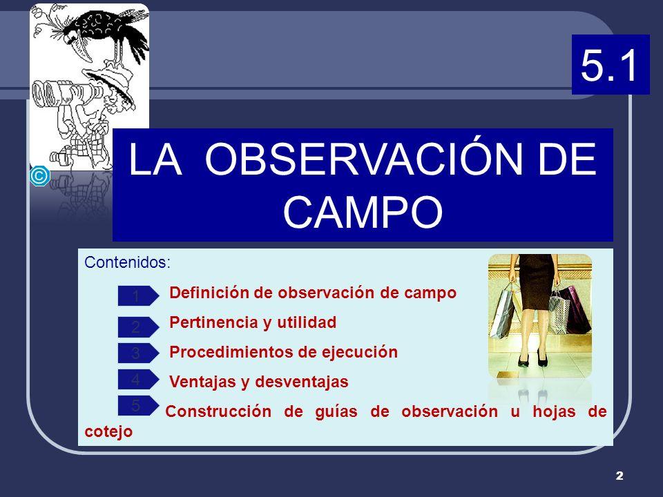 LA OBSERVACIÓN DE CAMPO