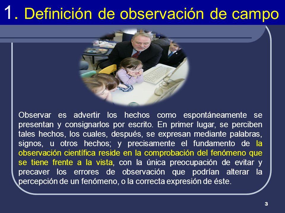 1. Definición de observación de campo