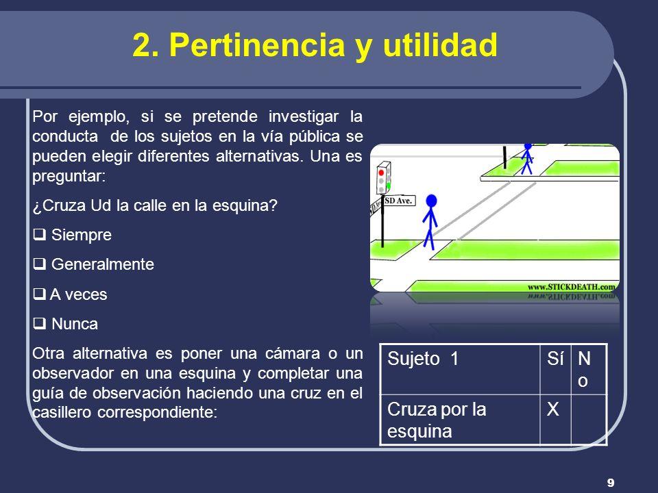 2. Pertinencia y utilidad
