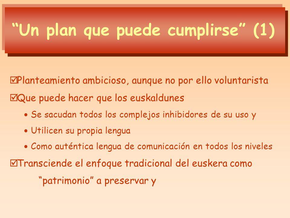 Un plan que puede cumplirse (1)