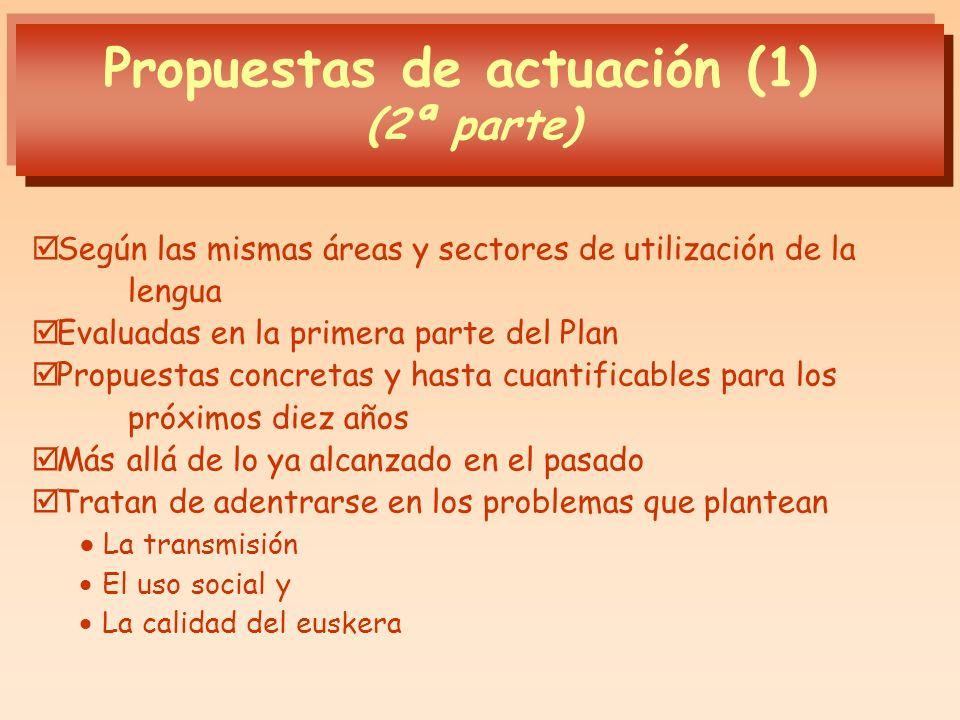 Propuestas de actuación (1)