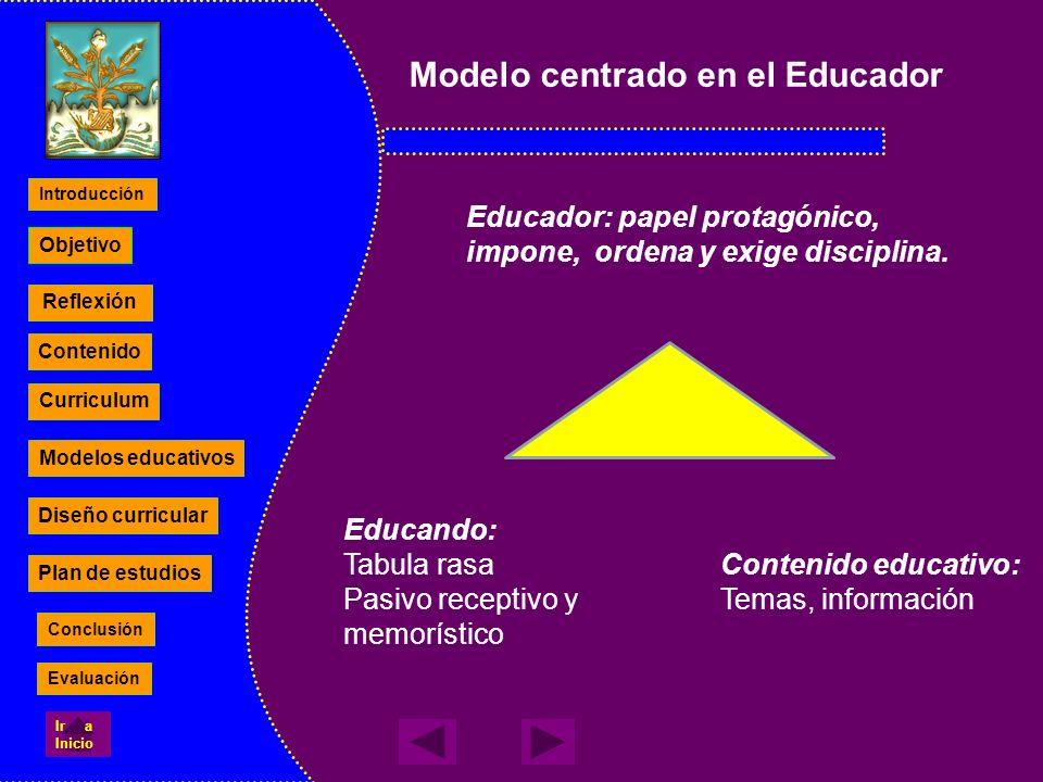 Modelo centrado en el Educador
