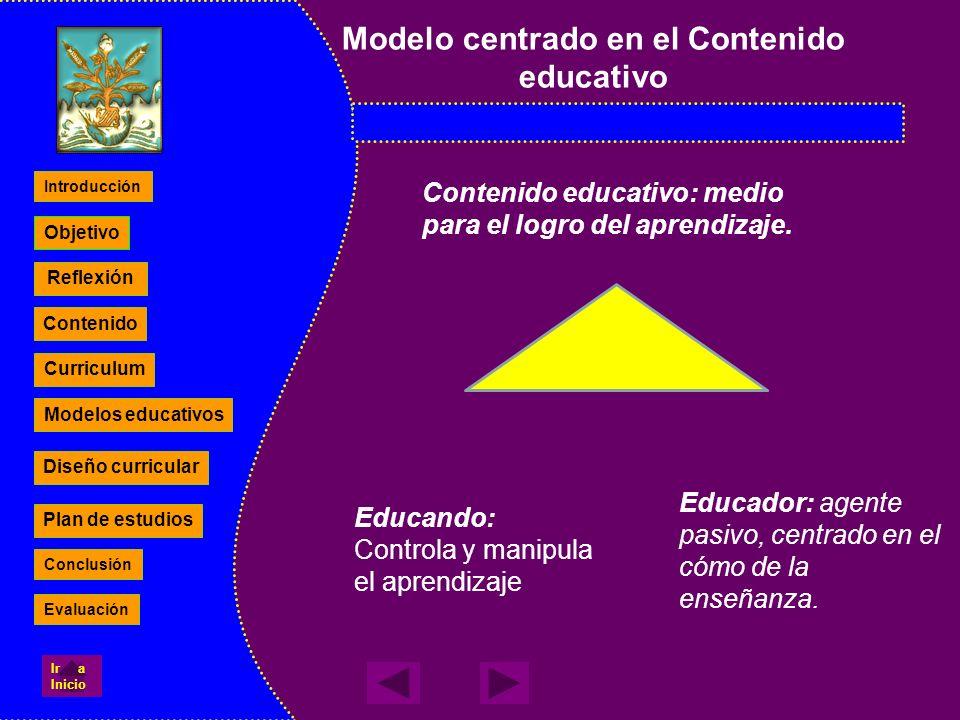Modelo centrado en el Contenido educativo