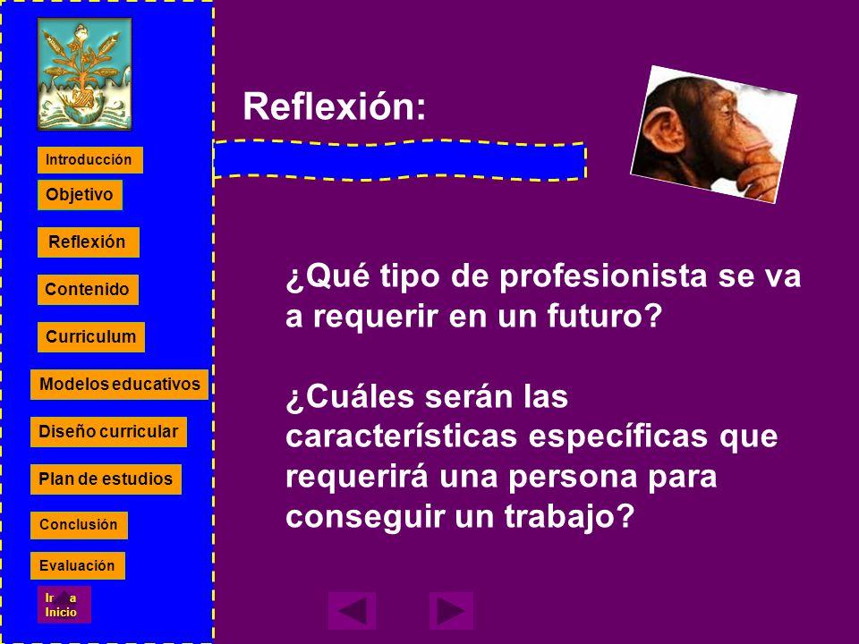 Reflexión: ¿Qué tipo de profesionista se va a requerir en un futuro