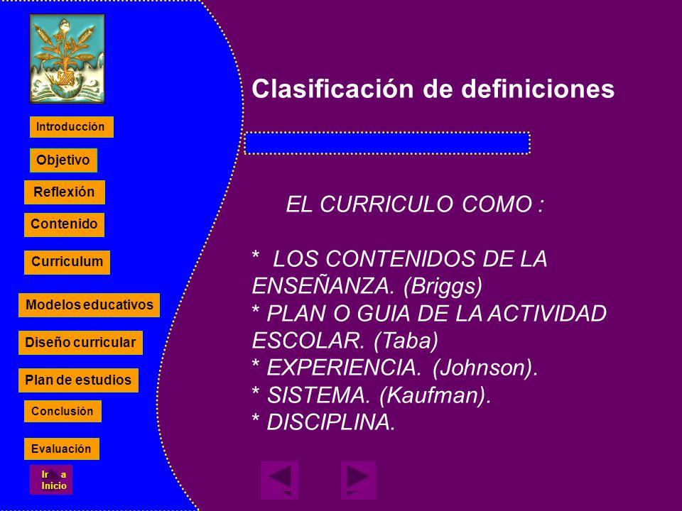 Clasificación de definiciones