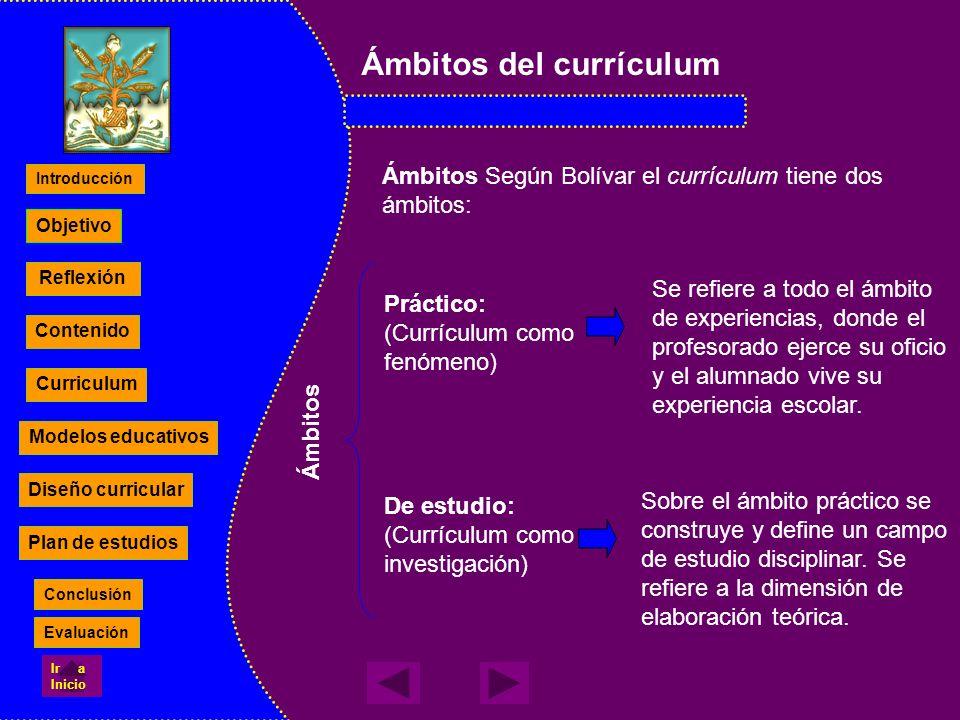 Ámbitos del currículum