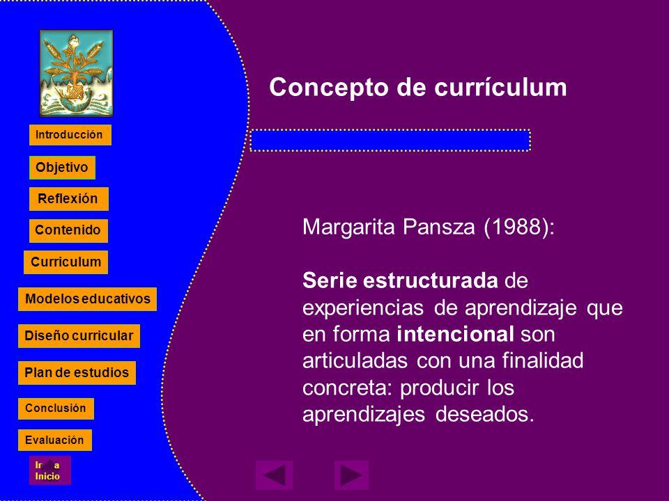 Concepto de currículum