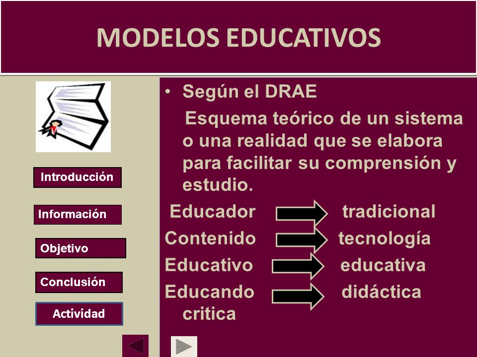 MODELOS EDUCATIVOS Según el DRAE