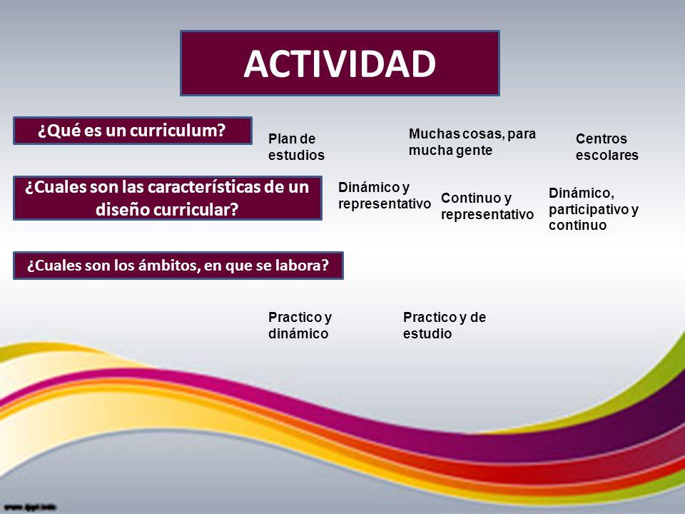 ACTIVIDAD ¿Qué es un curriculum