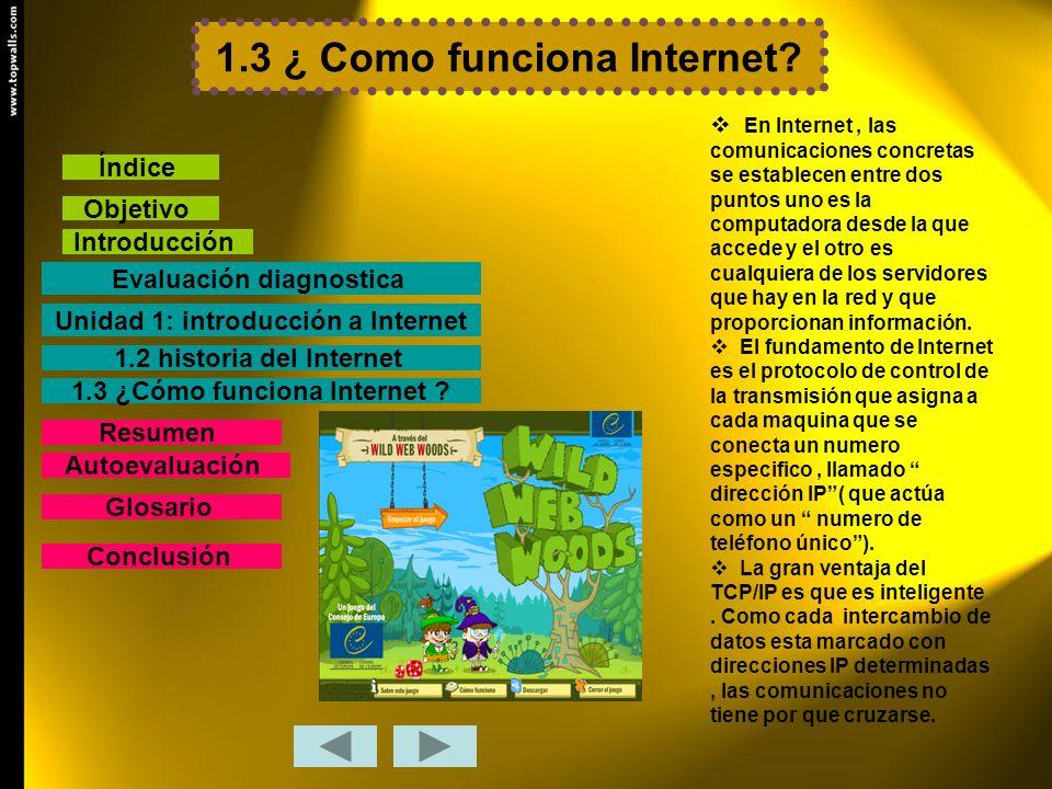 1.3 ¿ Como funciona Internet